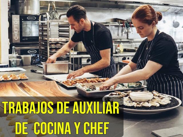 Chef y Auxiliar de Cocina